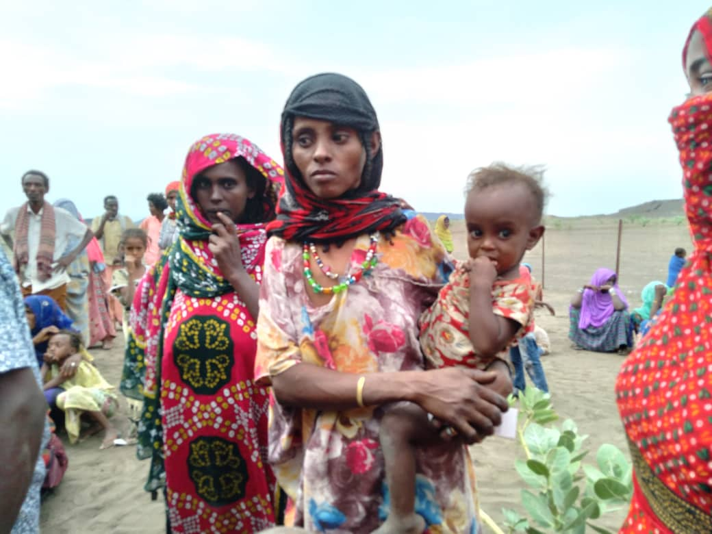 Displaced in Digdiga compound